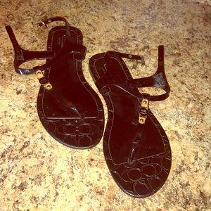 Coach sandals.